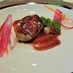リュド コマンセ ナチュール - 西京味噌漬フォアグラのソテー 旬の食材のマリアージュ