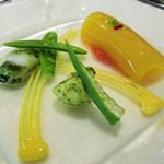 リュド コマンセ ナチュール - 本日のオードブル 魚のスープのジュレなど