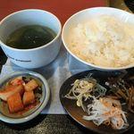 焼肉 桃苑 - 和牛ロースセット1400円