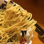 二代目 もんごい亭 - 汁なしサンマそば  麺リフト〜(*^◯^*)