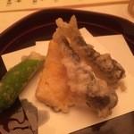割烹 まつもと - 稚鮎天ぷら(2015,5)
