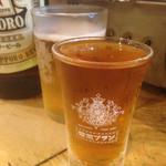 新宿思い出横丁 トロ函 - 電気ブラン+瓶ビール