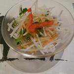 寛屋 - ランチのサラダ