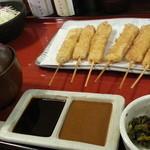 串かつ料理 活 - トンカツ定食860円