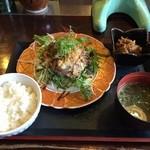 Wakafesaike - 本日のランチ『豚肉の岩塩スパイス焼き』700円