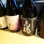 すきあじ - 店名と店長名の銘柄日本酒四合瓶