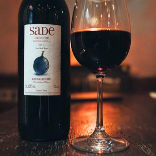 魅惑のトルコワインを数多く揃えています。
