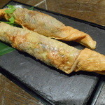 Sentohausuden - 紫蘇香る海老の湯葉巻き揚げ