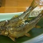 魚楽 - 天然鮎塩焼き