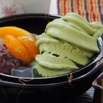 慈恵院・慈庵 - 料理写真:抹茶クリームあんみつ(2015/06/28)