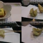39409367 - もろこし豆腐・鱧とヤングコーン・薩摩芋とエリンギ・穴子