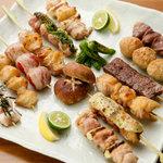 地鶏酒肴庵 ハナタレ - 料理写真:備長炭で丁寧に焼き上げます!