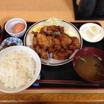 福徳食堂 - 2015/06 鶏からあげ定食\810