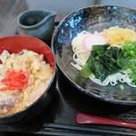 味囲楽 - 五島かけうどん+ 鶏の親子丼_2015/06