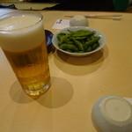 さ々木 - まずはビアーで乾杯!