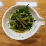 海鮮道楽たち花 - 料理写真:山葵のおひたしです。