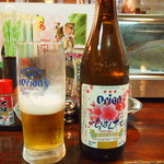 居酒屋 天狗 - まずはビール。やっぱオリオンビールでしょう。