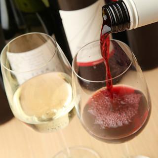 ワインやカクテルなども充実の品揃え
