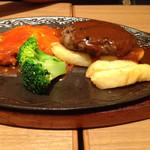 昔洋食みつけ亭 - ハンバーグとグリルチキン1250円