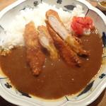 とり田 - 水炊きスープで作る 『チキンカツカレー』(大盛り)