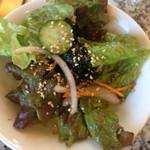 大倉山 - ランチのサラダ。 夜来た時もこのサラダ美味しいから注文します