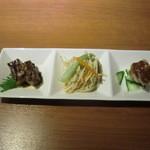 遙華 - 旬の前菜三種盛り