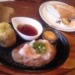 さくらさく - 和風ハンバーグステーキ¥1,100 Bセットのパン