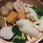 39425375 - 季節野菜の蒸篭蒸し