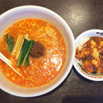 39426155 - 担々麺セット(担々麺+ミニ陳麻飯) 900円