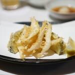 米福 - 白海老の天ぷら