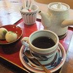 苔筵 - 【ホットコーヒー/苔まんじゅう付(500円)】