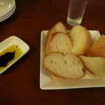 ひとつぶ - お通しのパン
