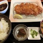 松山食堂 - あぐーとんかつ定食・1980円