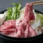 特選和牛特上ロースすき焼き(野菜盛り付き)
