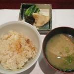 割烹 新多久 - 新生姜の炊き込みご飯