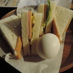 南風堂珈琲店 - ハムチーズサンドウィッチセット
