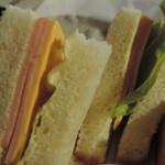 南風堂珈琲店 - ハムチーズサンドウィッチ アップ