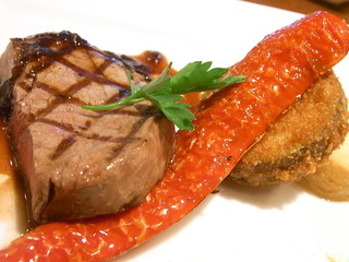 nanpeidai  Grazie - ズッキーニのパン粉焼と赤い甘唐辛子も美味しい☆♪