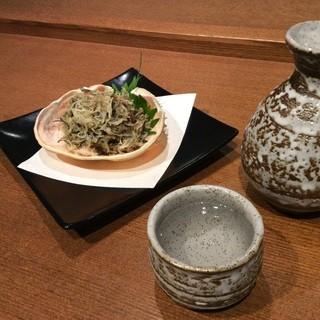 美味しい地酒と北海道の海の幸。〆はうどんで