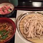 居酒屋 寿毛半 - ランチセット¥850  (武蔵野うどんとミニネギトロ丼)