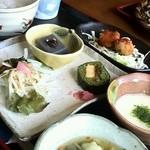 そば切り 稲美 - 蕎麦寿司、サラダ、蕎麦豆腐