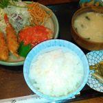 とんかつ 松よし - 料理写真:★Aセット(エビフライ・ハンバーグ) 920円