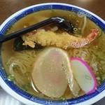 つばくら食堂 - 天ぷら中華 大盛り(¥760) 美味しいよ(*´▽`*)