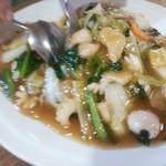 中国料理 なすの華 - 海鮮あんかけ焼そば