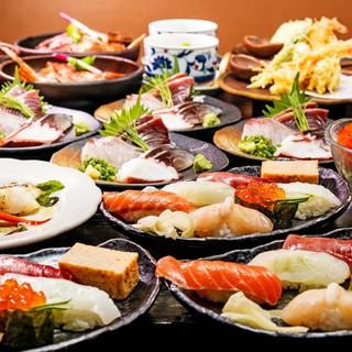 本格寿司宴会コースがお薦め