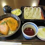 39447019 - タレカツ丼・へぎそばセット 1000円