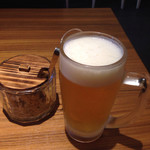 やよい軒 本八幡店 - 生ビール(^∇^)
