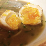 虎ジ - 虎卵割ったら中身は普通の煮卵