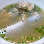 菜香 - スープ(えのき&はまぐり(だと思うw)