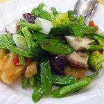 菜香 - 海鮮と野菜炒め(キス&野菜)